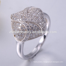 Beautiful pave women fancy 925 sterling silver ring